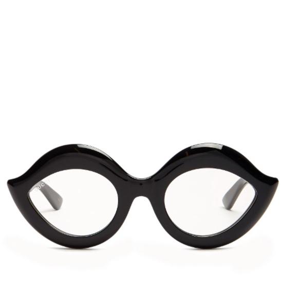 c3a4b26b490 Gucci Acetate Black Cat Eye Optical Glasses